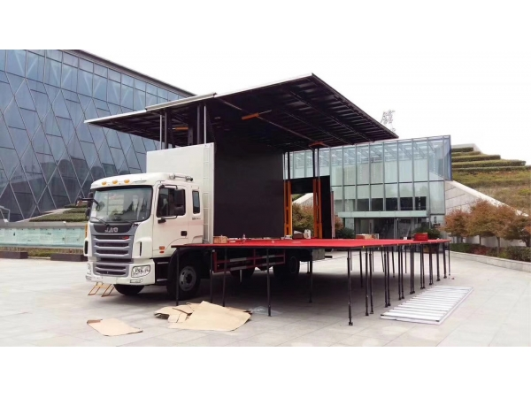 JAC 4x2 mobile stage with LED screens performance truck