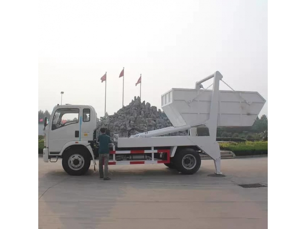 HOWO 5t swept-body refuse collector truck for sale