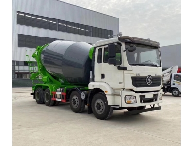 Shacman 12 wheels 12-16m3 cement drum mixer truck