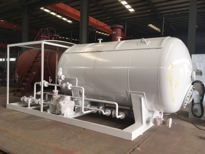 8000L LPG skid mounted filling station