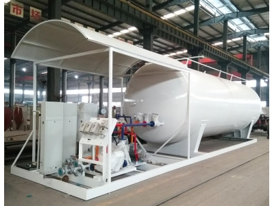 30CBM LPG skid station with filling dispenser