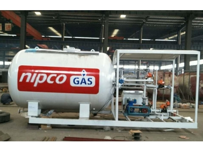 5000L cooking gas cylinder tank filling station