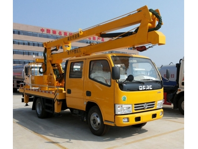 Double cab 14m aerial platform work vehicle