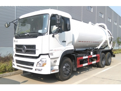 Dongfeng 10wheels 16t suction sewage truck