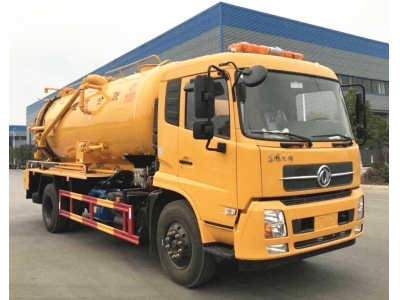10t Vacuum  sewage suction truck with clean-up multi - function